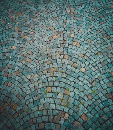 adoquines: Bonita decoraci�n de adoquines de piedra