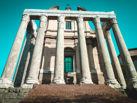 Was built on the orders of the Emperor Antoninus Pius in honor of his deceased wife Faustina. After his death the temple was dedicated to him too.