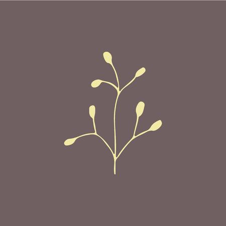 graficas: elemento dibujado a mano para las tarjetas de felicitación de diseño Vectores