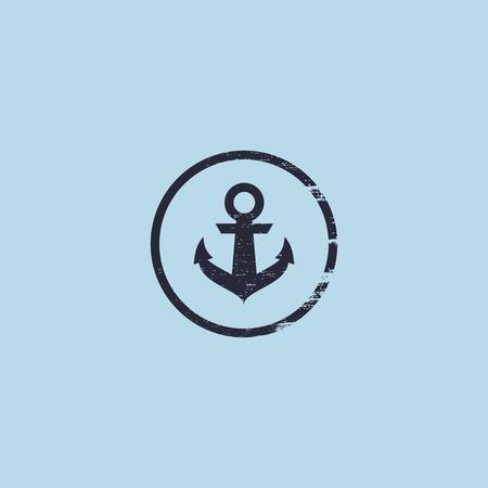 Anchor  . Nautical theme, sailor club sign.