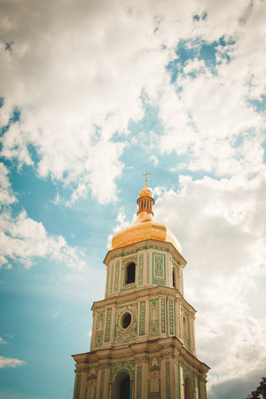 Tower of St. Sophia Cathedral. Kiev. One of the most loved sights in the capital of Ukraine.