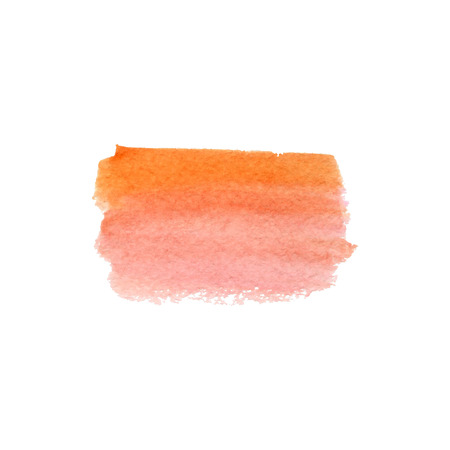 Colorful watercolor background with orange and rose colors. Illustration
