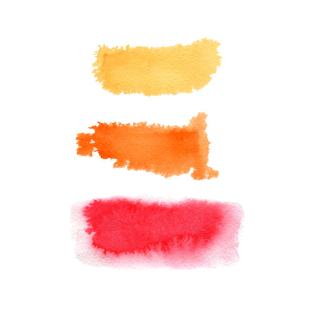 Hand drawn watercolor background. Set of three banners.Hand painted colorful element for modern design. Standard-Bild