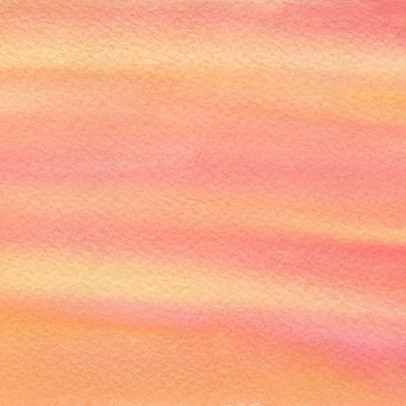 Hand drawn watercolor background with warm yellow, orange and pink colors.. Hand painted colorful element for modern design.