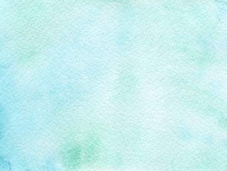 Hand drawn watercolor background with cold blue colors.. Hand painted colorful element for modern design. Standard-Bild