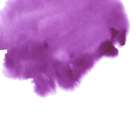 Hand drawn watercolor background. in violet color. Hand painted colorful element for modern design.
