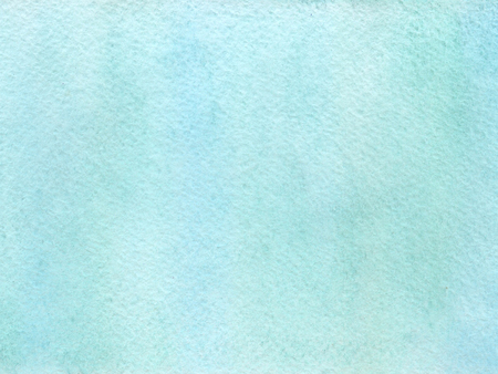 Watercolor background with paper texture. Green and blue colors. Fresh springtime concept.