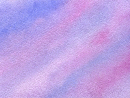 Watercolor background with paper texture. Pink and violet colors.
