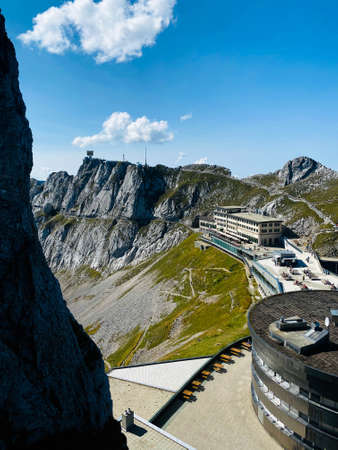 Station the top of the mountain Pilatus in Switzerland