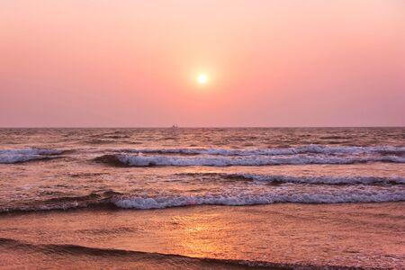 Sunset on over the Arabian sea. Goa, India