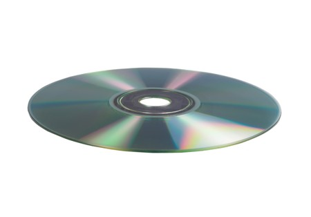 rom: A cd rom on white background
