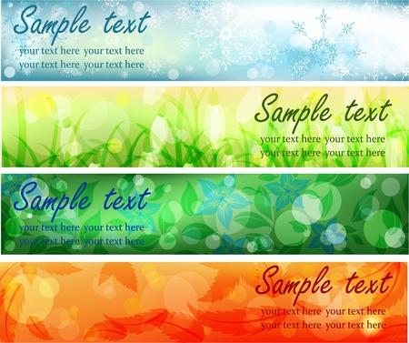 cuatro elementos: Cuatro banderas de temporada