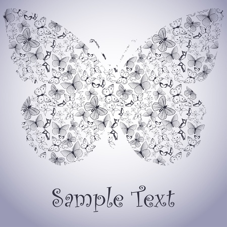 Butterfly card Stock Vector - 11660494