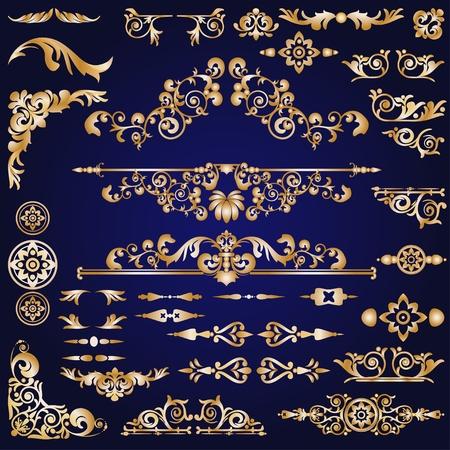 hoekversiering: Design elementen collectie