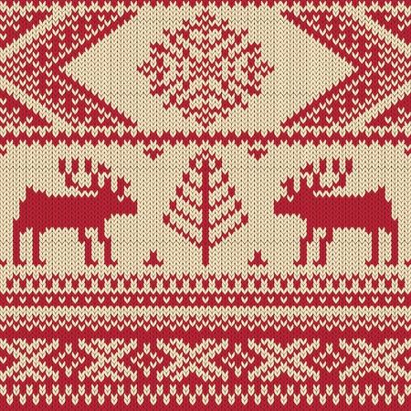slavic: Swatch a maglia con i cervi e fiocchi di neve modello