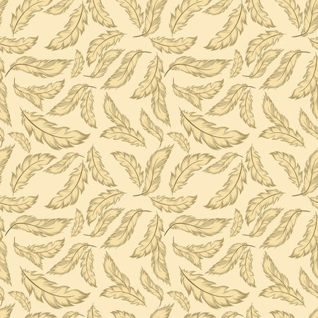 Feather seamless pattern Stock Vector - 11660477