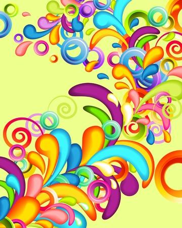 funky background: Funky background with rainbow splashes Illustration