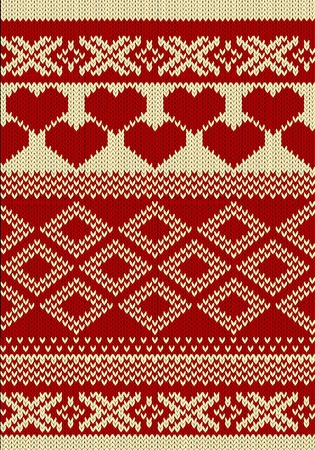 slavic: Knitted yarn swatch with slavic ornament
