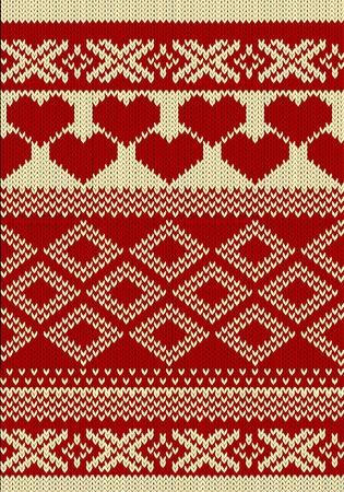 slavic: Swatch a maglia filati con ornamento slavo Vettoriali