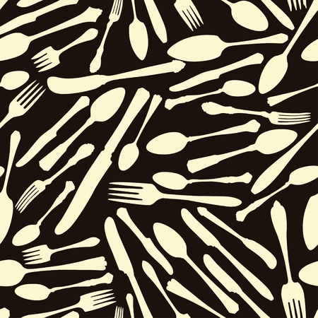 Vector seamless pattern with flatware Vector