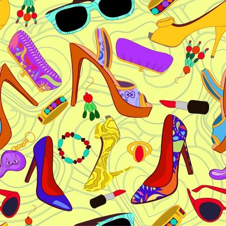 힐: 여자의 액세서리 원활한 패턴