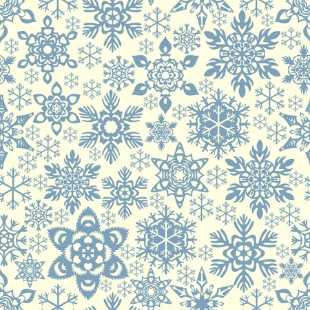 christmastide: Seamless snowflakes background Illustration