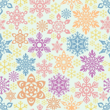 christmastide: Seamless snowflakes pattern Illustration