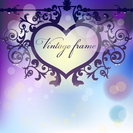 Vector morning background with heart signboard with raindrops and flare lights Stock Vector - 11815731