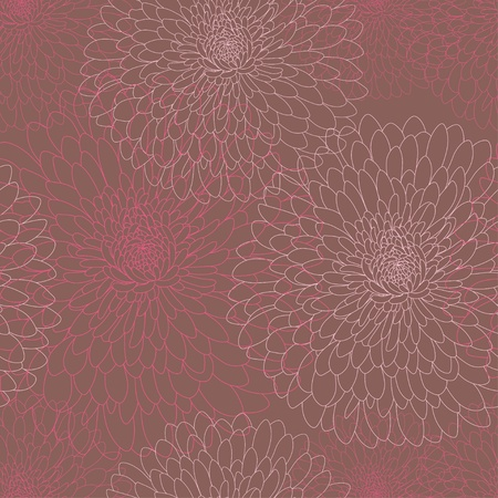 Abstract seamless wallpaper with flowers Vector