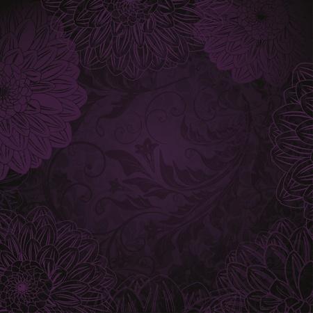 velvet texture: antique sfondo viola floreale Vettoriali
