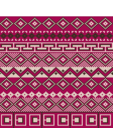 fair isle: Knitted background in Fair Isle style
