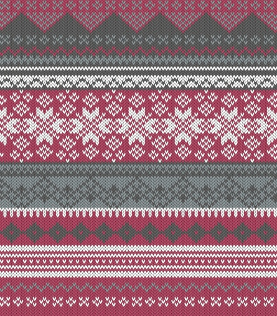 isle: Knitted background in Fair Isle style