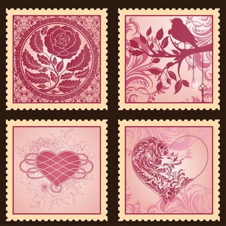 달리아: 발렌타인 데이를위한 로맨틱 마크 세트