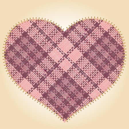 cotton wool: Patch heart Illustration