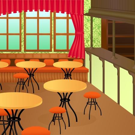 bar stool: Bistro interior
