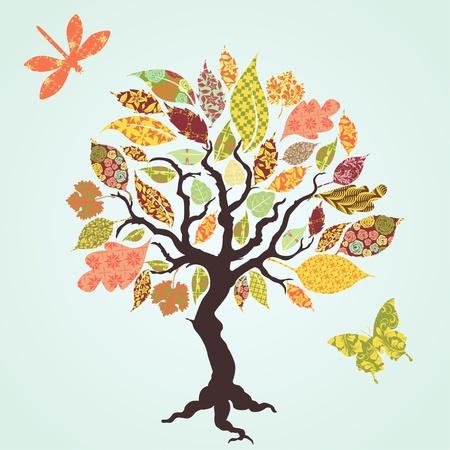 toppa: albero con le foglie di patch