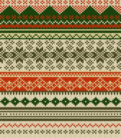jacquard: Knitted country background with snowflakes