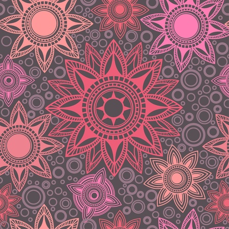 Abstract seamless pattern with round elements Vector
