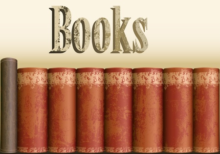 Background with antique books Stock Vector - 12389473
