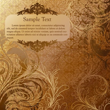 Luxury grunge golden background Stock Vector - 12763297
