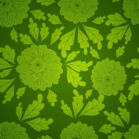 Seamless pattern with dahlia flowers Stock Vector - 12763291