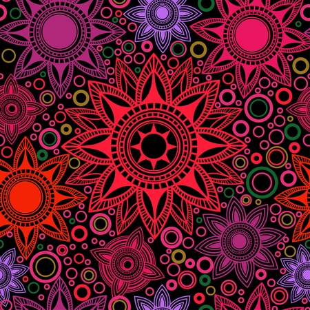 violet red: Bright abstract seamless pattern