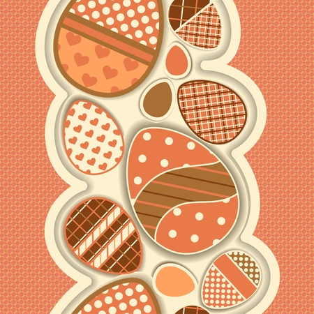 colored eggs: Seamless border for Easter with colored eggs  All patterns are attached to file