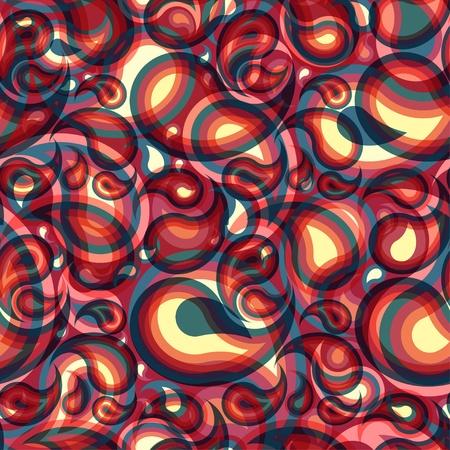 Modern seamless paisley pattern Vector