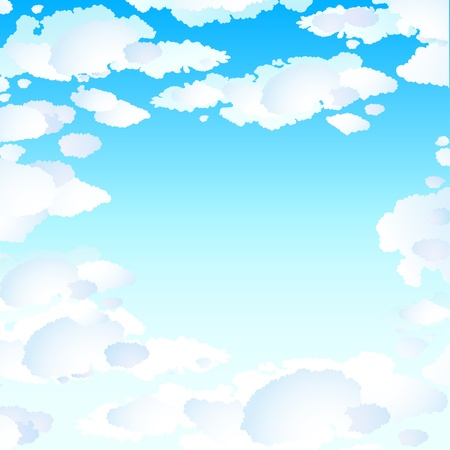 Seamless background with clouds Stock Vector - 13039357