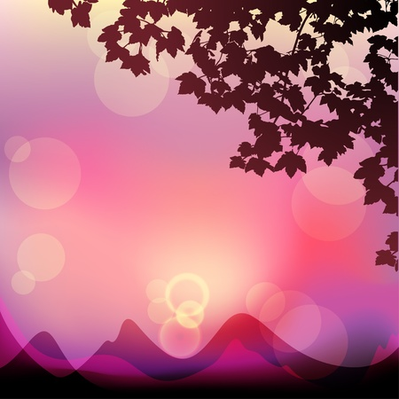 Vector sunset landscape Stock Vector - 13039402