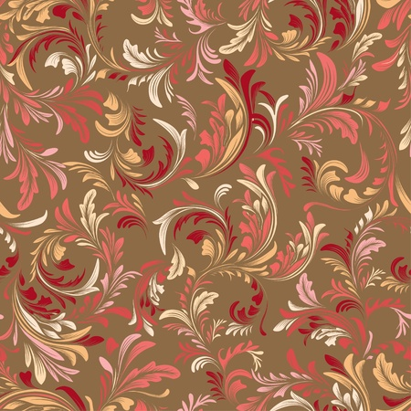 Retro seamless floral pattern Vector