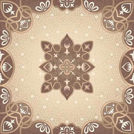 floral arabesque ornament Illustration