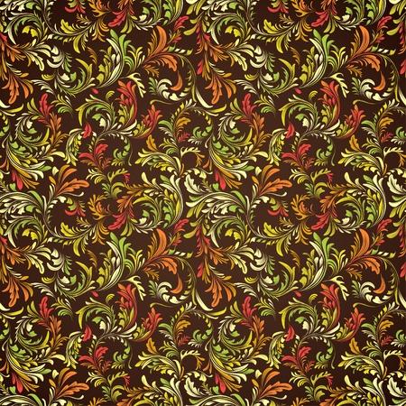 빈티지 밝은 꽃 원활한 패턴
