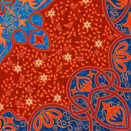 persian art: floral arabesque background
